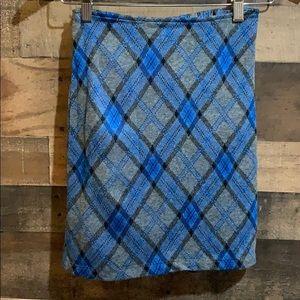 ❤️4/$20 Limited Too Gray Black & Blue Plaid Skirt